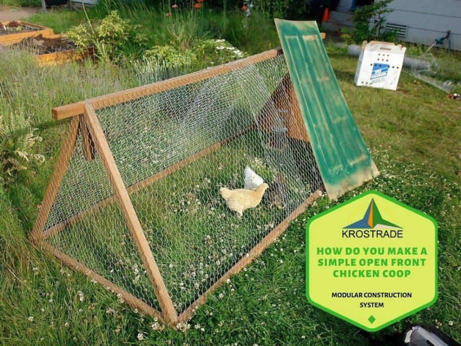 Hoe maak je een eenvoudig kippenhok met open voorkant